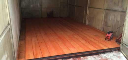 Укладка деревянного пола в гараже