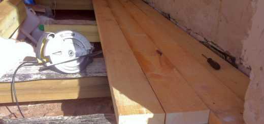 Ремонт полов - деревянный пол в гараже
